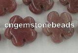 CFG1025 15.5 inches 16mm carved flower rhodochrosite beads