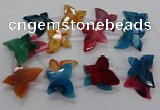 CFG1226 15.5 inches 30*45mm - 35*45mm carved butterfly agate beads
