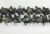 CFG985 15.5 inches 33*33mm carved star grey opal gemstone beads