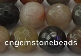 CFJ215 15.5 inches 14mm faceted round fancy jasper beads wholesale