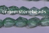 CFL1082 15 inches 9*12mm faceted nuggets green fluorite beads