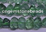 CFL1085 15 inches 9*12mm faceted nuggets green fluorite beads