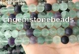 CFL1148 15.5 inches 10mm round matte fluorite beads wholesale