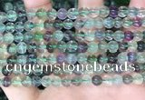 CFL1151 15.5 inches 6mm round fluorite gemstone beads