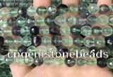 CLF1156 15.5 inches 8mm faceetd round fluorite gemstone beads