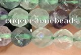 CLF1161 15.5 inches 6mm faceetd round fluorite gemstone beads