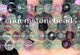 CLF1165 15.5 inches 14mm faceetd round fluorite gemstone beads