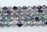 CFL1233 15.5 inches 10mm faceted square fluorite beads