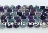CFL1235 15.5 inches 8*10mm faceted rectangle fluorite beads