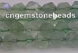 CFL1402 15.5 inches 8mm faceted nuggets green fluorite beads