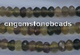 CFL141 15.5 inches 5*8mm faceted rondelle yellow fluorite beads