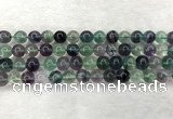 CFL1463 15.5 inches 10mm round A grade fluorite gemstone beads
