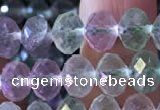 CFL415 15.5 inches 6*8mm faceted rondelle fluorite gemstone beads