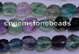 CFL725 15.5 inches 9*11mm faceted nuggets natural fluorite beads