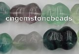 CFL958 15.5 inches 16*22mm peanut-shaped natural fluorite beads