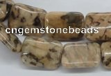 CFS16 15.5 inches 15*20mm rectangle natural feldspar gemstone beads