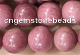 CFW51 15.5 inches 6mm round natural pink wooden jasper beads