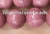 CFW53 15.5 inches 10mm round natural pink wooden jasper beads