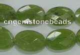 CGA103 15.5 inches 15*20mm faceted oval natural green garnet beads