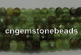 CGA145 15.5 inches 2.5*4mm faceted rondelle natural green garnet beads