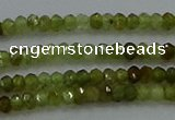 CGA155 15.5 inches 2*2.5mm faceted rondelle green garnet beads