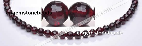 CGA20 15.5 inches 4.5mm faceted round natural garnet gemstone beads Wholesa