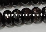 CGA461 15.5 inches 8*12mm faceted rondelle natural red garnet beads
