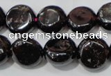 CGA467 15.5 inches 10mm coin natural red garnet beads wholesale