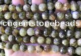 CGA707 15.5 inches 10mm faceted round green garnet beads