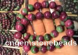 CGB2522 7.5 inches 11mm round ruby zoisite beaded bracelets