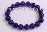 CGB2563 7.5 inches 10mm round charoite gemstone beaded bracelets