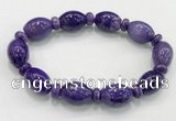 CGB2578 7.5 inches 13*17mm rice charoite gemstone bracelet