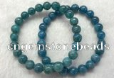 CGB2621 7.5 inches 8mm round natural apatite beaded bracelets