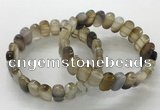 CGB3100 7.5 inches 8*15mm oval agate gemstone bracelets