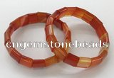 CGB3169 7.5 inches 12*15mm rectangle agate bracelets wholesale