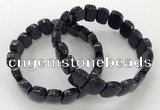 CGB3278 7.5 inches 10*15mm faceted marquise blue goldstone bracelets