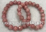CGB4119 7.5 inches 9.5mm - 10mm round rhodochrosite beaded bracelets