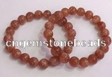 CGB4544 7.5 inches 10mm round golden sunstone beaded bracelets