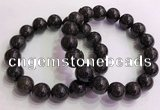CGB4579 7.5 inches 14mm round black sunstone beaded bracelets