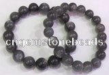 CGB4583 7.5 inches 11mm - 12mm round black sunstone beaded bracelets