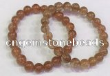 CGB4613 8mm - 9mm round golden rutilated quartz beaded bracelets
