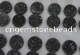 CGC131 18mm flat round druzy quartz cabochons wholesale