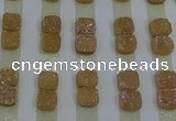 CGC215 10*10mm square druzy quartz cabochons wholesale