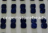 CGC219 10*10mm square druzy quartz cabochons wholesale