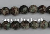 CGG03 15.5 inches 10mm faceted round ghost gemstone beads wholesale