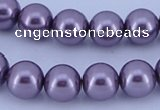 CGL145 5PCS 16 inches 10mm round dyed glass pearl beads wholesale