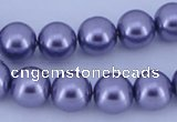 CGL158 5PCS 16 inches 16mm round dyed glass pearl beads wholesale
