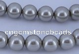 CGL179 5PCS 16 inches 18mm round dyed plastic pearl beads wholesale