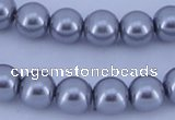 CGL194 10PCS 16 inches 8mm round dyed glass pearl beads wholesale