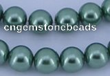 CGL224 10PCS 16 inches 8mm round dyed glass pearl beads wholesale